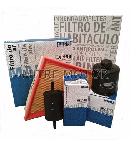 Kit Filtros Vw Gol Trend 1.6 8v Aceite+aire+combustible+pole