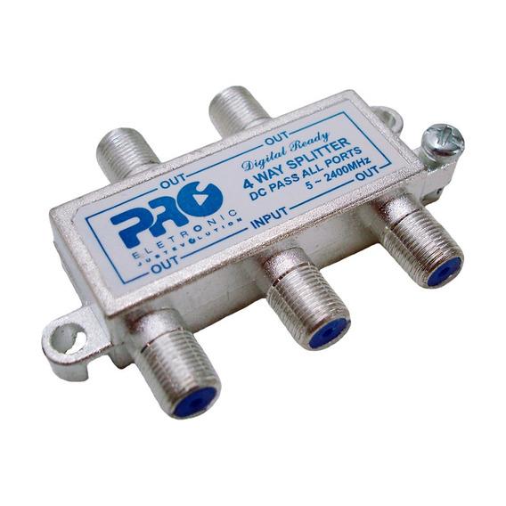 Divisor Proeletronic Alta 1x4 De 5 A 2400 Mhz Pqdv-2024b