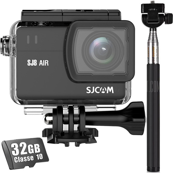Câmera Sjcam Sj8 Air Wifi Sport Action + Cartão 32gb+ Bastão