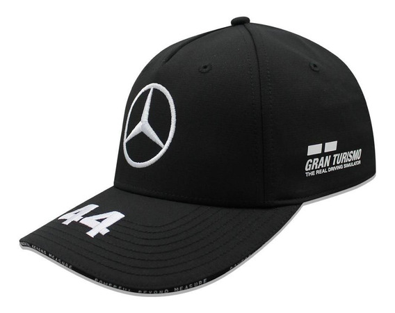 Gorra Mercedes Benz Curva Lewis Hamilton 44 Petronas Negro