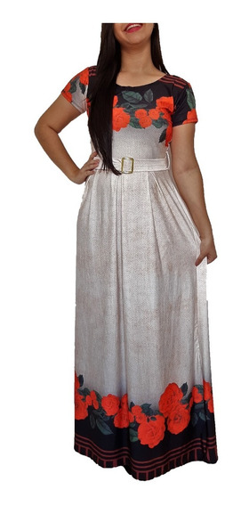 Vestido Evangélico Feminino Longo Barato Promoção Midi Gode