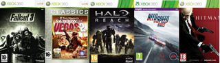 Fallout 3, Hitman Absolution, Halo Reach, Vegas 2 +1xbox 360