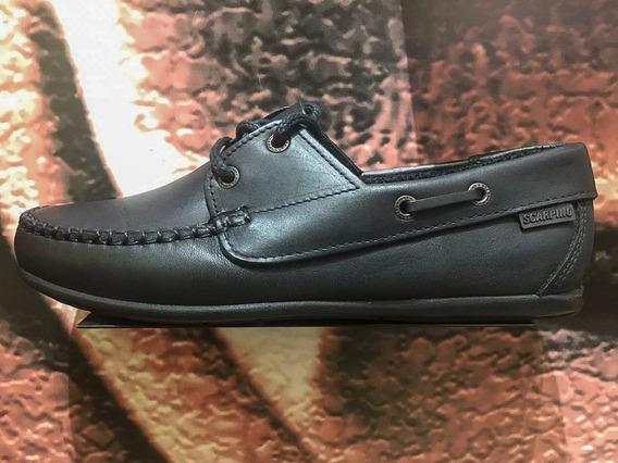 Zapato Scarpino Colegial Acordonado