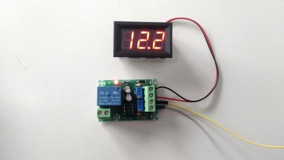 Kit Controlador De Carga Inteligente Para Baterias 12-15v Com Voltímetro Som