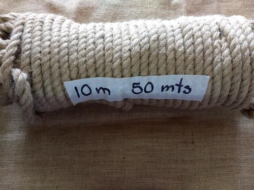 Cordón De Yute 10mm 50 Mts