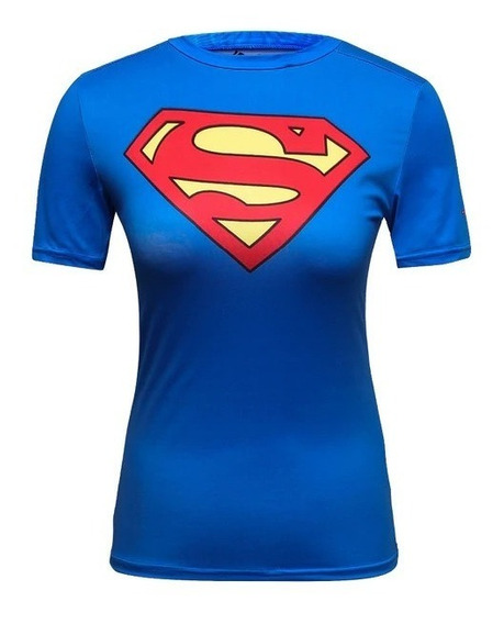 Playera Super Girl Crossfit Superman Gym Cosplay Dc Comics