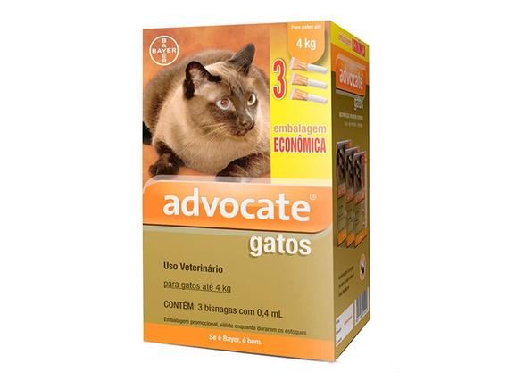 Antipulgas Bayer Advocate Combo P/ Gatos Até 4kg