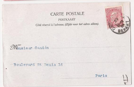 Belgica 1904 Postal Desde Bruxelles A Paris - 111