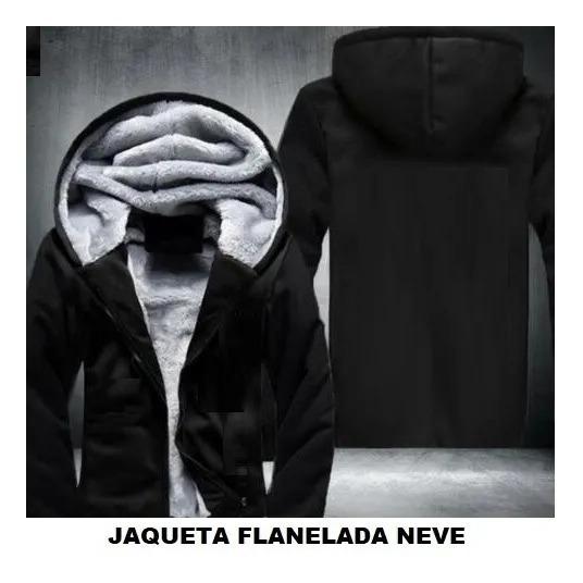 Blusa Termica Frio Jaqueta Masculina Com Capuz Forro De Lã