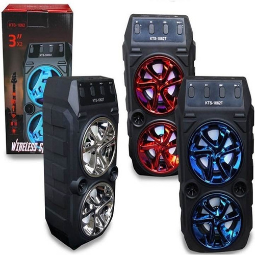 Corneta Speaker Altavoz Bluetooth Usb Sd Radio Portatil Led