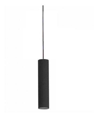 Lámpara Plafón Colgante 1 Luz Led 7w Moderno Minimalista Deco Cilíndrico En Aluminio Con Cable De Tela Completo