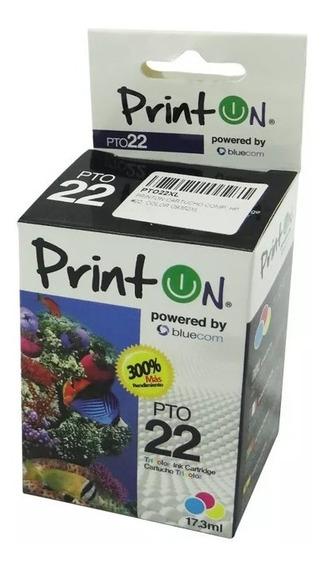 Cartucho Hp 22xl Color Printon