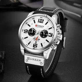 Relógio Masculino Curren Esporte Luxo Pulseira Couro