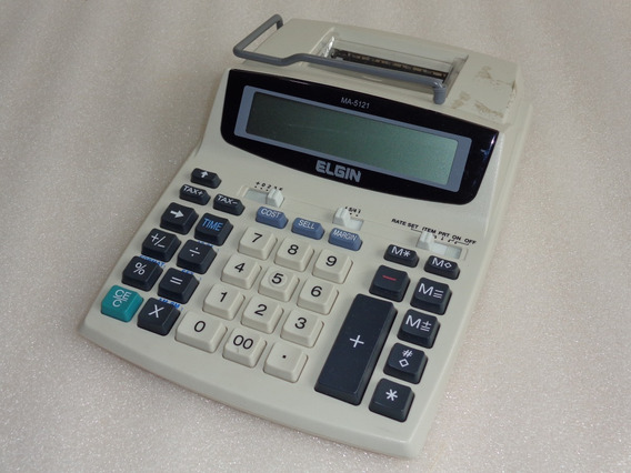 Calculadora De Mesa Elgin Ma5121 - Usada / Parou De Imprimir