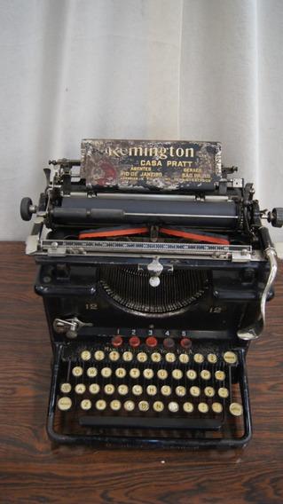Antiga Maquina De Escrever Remington