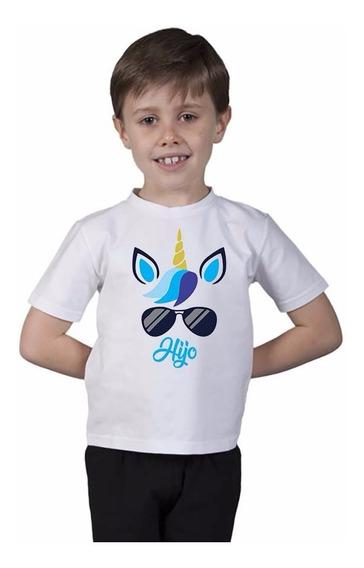 Playera Algodon Unicornio Hijo Talla 2 A 12 Años