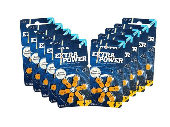60 Baterias A13 Pr48 Aparelho Auditivo - Extra Power