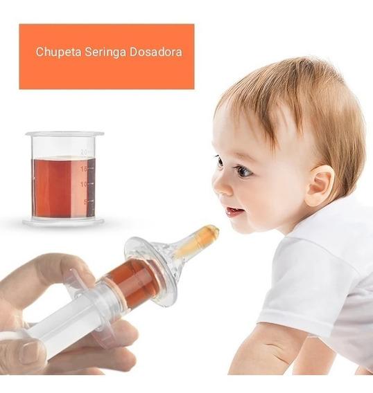 Chupeta Seringa Dosadora Para Bebês - Remédios Leite Sucos