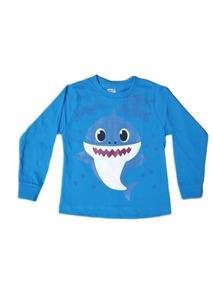 Camiseta Infantil Baby Shark Manga Longa Lançamento
