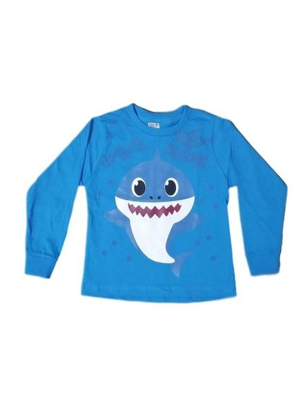 Kit C/2 Camiseta Infantil Baby Shark Manga Longa Lançamento