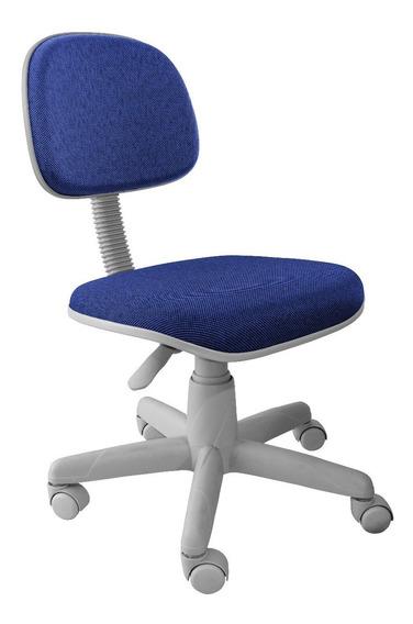 Cadeira Secretaria Cinza Sem Braco Jserrano Base Cinza