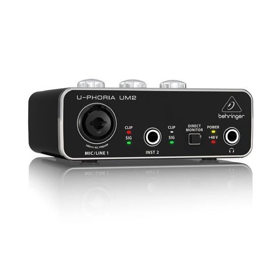 Interface De Audio U-phoria Um2 - Behringer + Nf + Garantia!