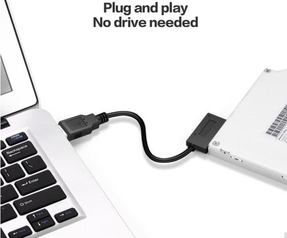 Cable Adaptador Usb A Sata Mini, Para Unidad Cd/dvd Laptop