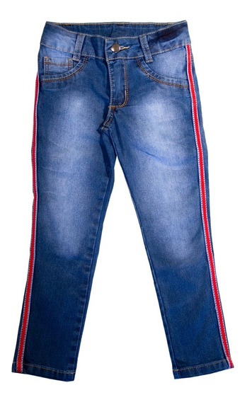 Calça Jeans Infantil Juvenil Menina Feminina Lycra