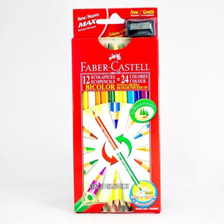 Colores Faber Castell Bicolor 2x12 = 24 Doble Punta