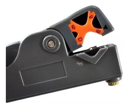 04 Alicate Decapador Rotativo Conector Rg6 Rg59 Bnc Coaxial