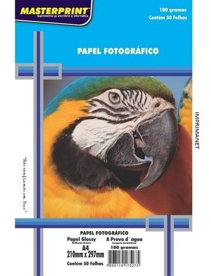 500 Folhas De Papel Fotográfico 180 Gr Master Print