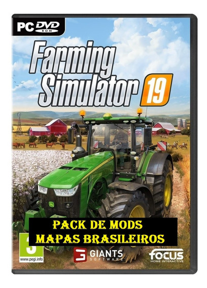Farming Simulator 19 Pc + Mods (mídia Física) Dvd