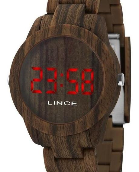 Relógio Lince Unissex Digital Amadeirado Mdp4615p Vxnx