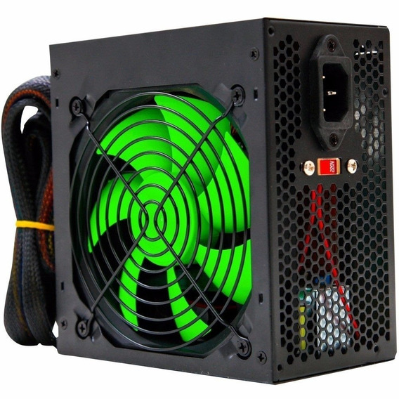 Fonte Atx 500w Real Gamer Super Silenciosa Para Pc Bivolt
