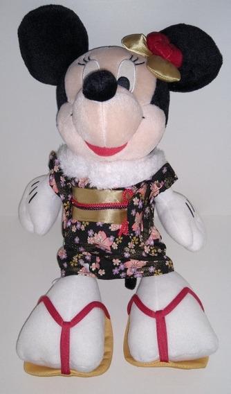 Pelúcia Minnie Mouse Com Kimono Japonês
