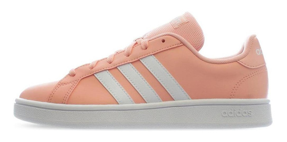 Tenis adidas Grand Court Base - Ee7481 - Rosa - Mujer
