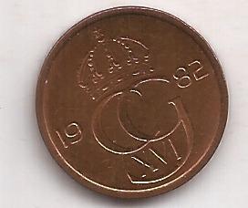 Suecia Moneda De 5 Ore Año 1982