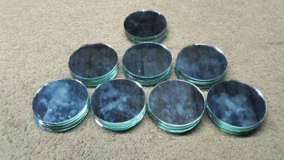 Espejos Redondos De 5cm Diámetro Por 50und P/artesanias