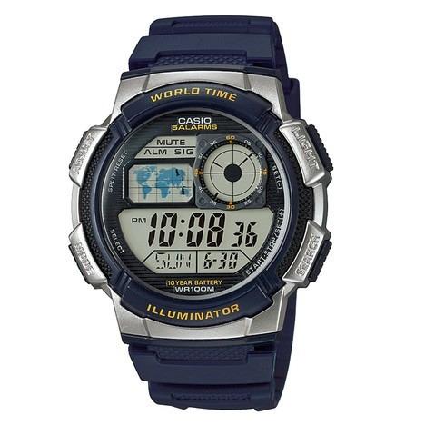Relógio Casio Prata/azul-marinho