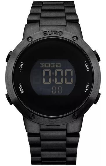 Relógio Euro Feminino Preto Digital Eubj3279ab/4p Compre Já