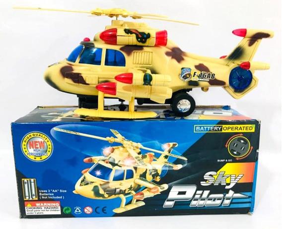 Helicóptero Brinquedo Bate E Volta Sky Pilot Com Som E Luzes