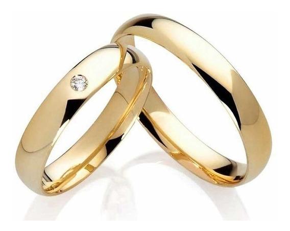 Par Aliança Tungstênio 4mm Com Pedra Casamento Noivado