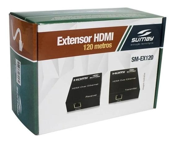 Extensor Hdmi Sumay Sm-ex120 120mt 3d 4k Hispeed Sm-ex120