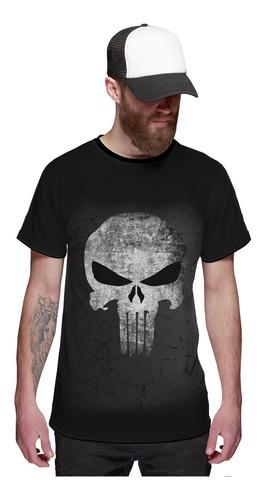 Imagem 1 de 2 de Camiseta O Justiceiro Caveira The Punisher Black