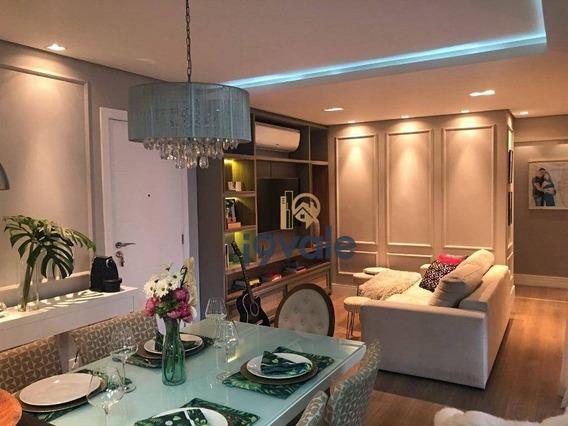 Apartamento À Venda, 90 M² Mobiliado E Pronto Para Morar Patio Club Jardim Aquarius Sjcampos/sp - Ap2433