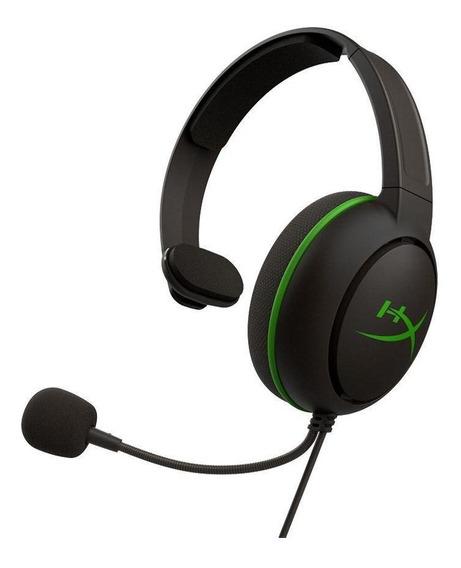 Headset Gamer Hyperx Cloudx Chat Preto E Verde Xbox One
