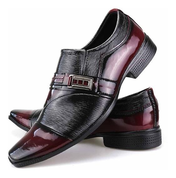 Sapato Social Masculino Alto Brilho Franca Dhl Calçados