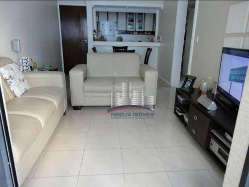 Imagem 1 de 14 de Apartamento Com 1 Dormitório À Venda, 65 M² Por R$ 220.000,00 - Centro - São Vicente/sp - Ap5919