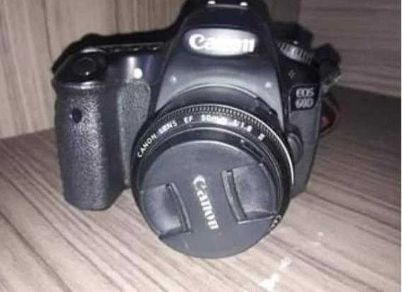 Camera Canom 60d Quit Lente 1.8 Carregador Bateria