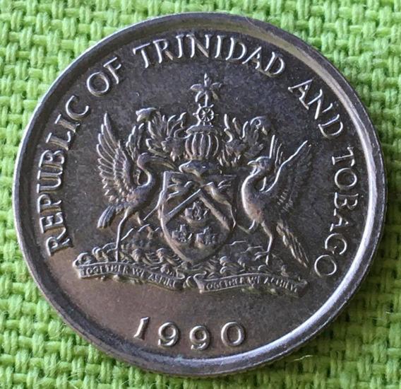 Trinidad Y Tobago : Moneda 10 Cents 1990